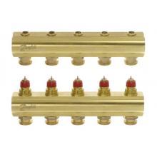 FHF-5 - распределительный коллектор для системы водяного отопления конфигурации 5+5''