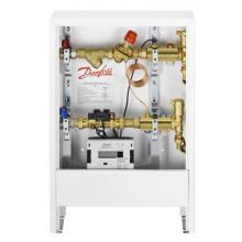 Шкаф с узлом присоединения квартирной системы отопления-1-В1. С одним выходом, левостороннее присоединение