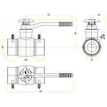 Клапан запорно-регулирующий JIP BaBv - WW Ду125 Ру25