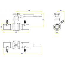 Клапан запорно-регулирующий JIP BaBv - WW Ду50 Ру25