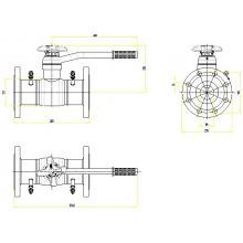 Клапан запорно-регулирующий JIP BaBv - FF Ду100 Ру25