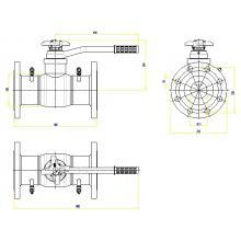 Клапан запорно-регулирующий JIP BaBv - FF Ду125 Ру25