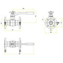 Клапан запорно-регулирующий JIP BaBv - FF Ду50 Ру25
