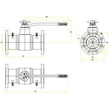 Клапан запорно-регулирующий JIP BaBv - FF Ду150 Ру25