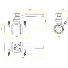 Клапан запорно-регулирующий JIP BaBv - WW Ду80 Ру25