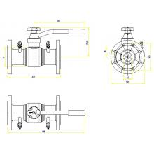 Клапан запорно-регулирующий JIP BaBv - FF Ду80 Ру25